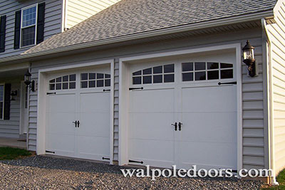 A residential garage door in Medfield MA